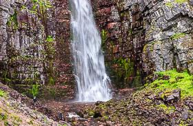 Schwedens höchster Wasserfall